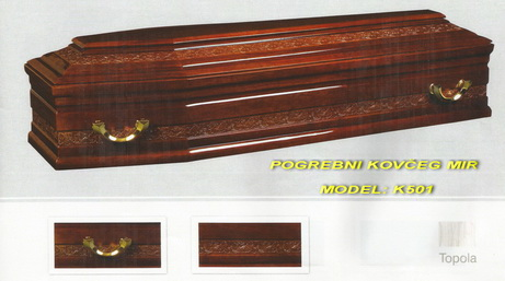 POGREBNI KOVČEG MIR - MODEL STANDARDNI: K501